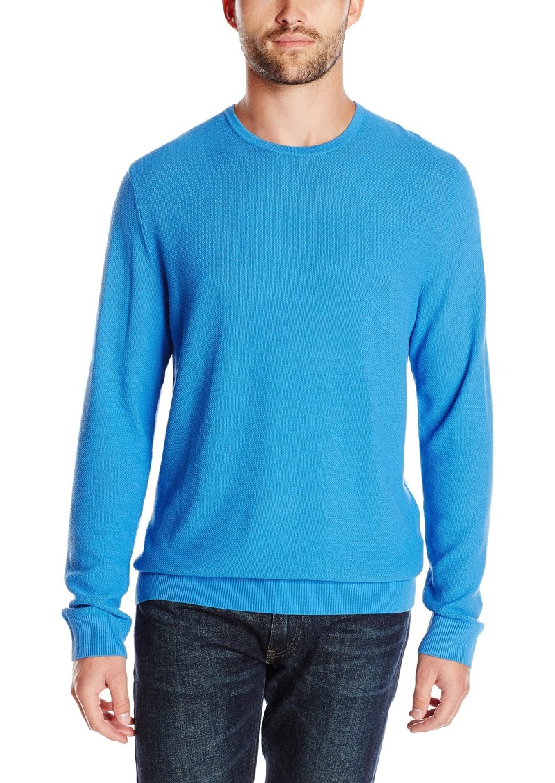 Kenneth Cole Men's Long Sleeve Pique Crew Knit Shirt