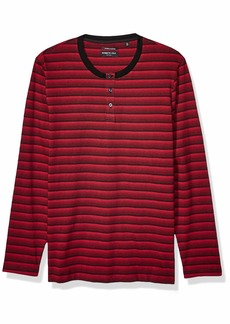 Kenneth Cole Men's Long Sleeve Striped Henley Shirt