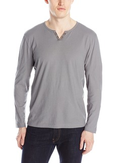 Kenneth Cole Men's Long Sleeve V-shape Henley Shirt