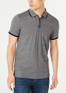 Kenneth Cole New York Men's Marled Zip Polo