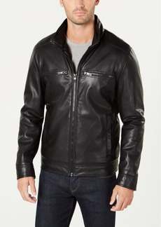 Kenneth Cole Men's Pebbled Faux-Leather Jacket