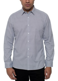 Kenneth Cole Men's Performance Stretch Triangle-Print Shirt
