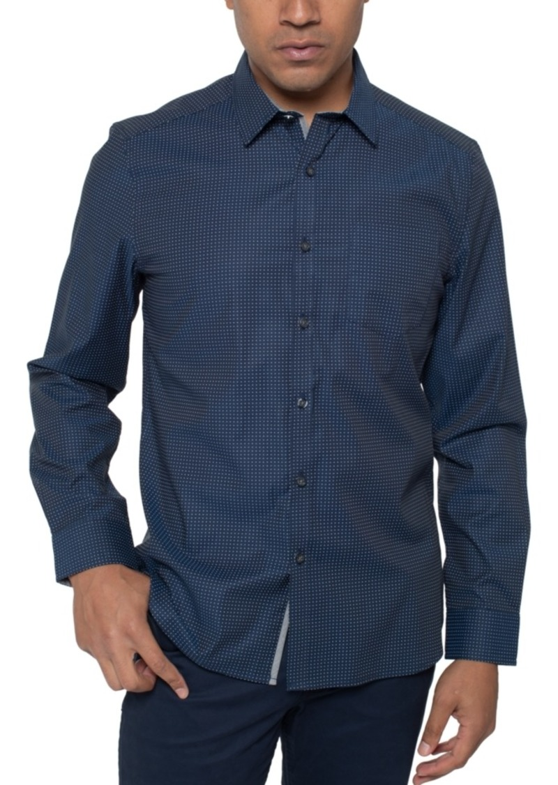 Kenneth Cole Men's Regular-Fit Stretch Mini-Dot Print Shirt