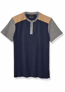 Kenneth Cole Men's Short Sleeve Color Block Henley