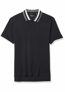 Kenneth Cole Men's Short Sleeve Contrast Tipping Polo Shirt