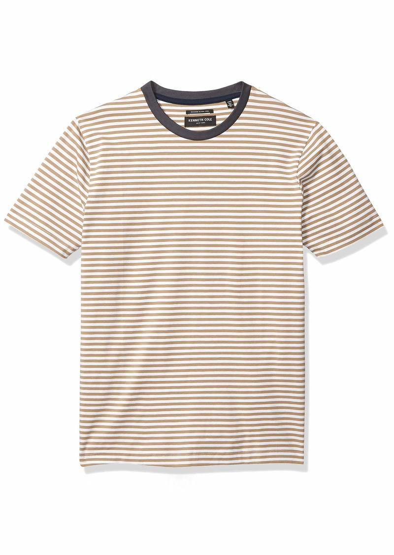 Kenneth Cole Men's Short Sleeve Stripe Crew Neck Shirt