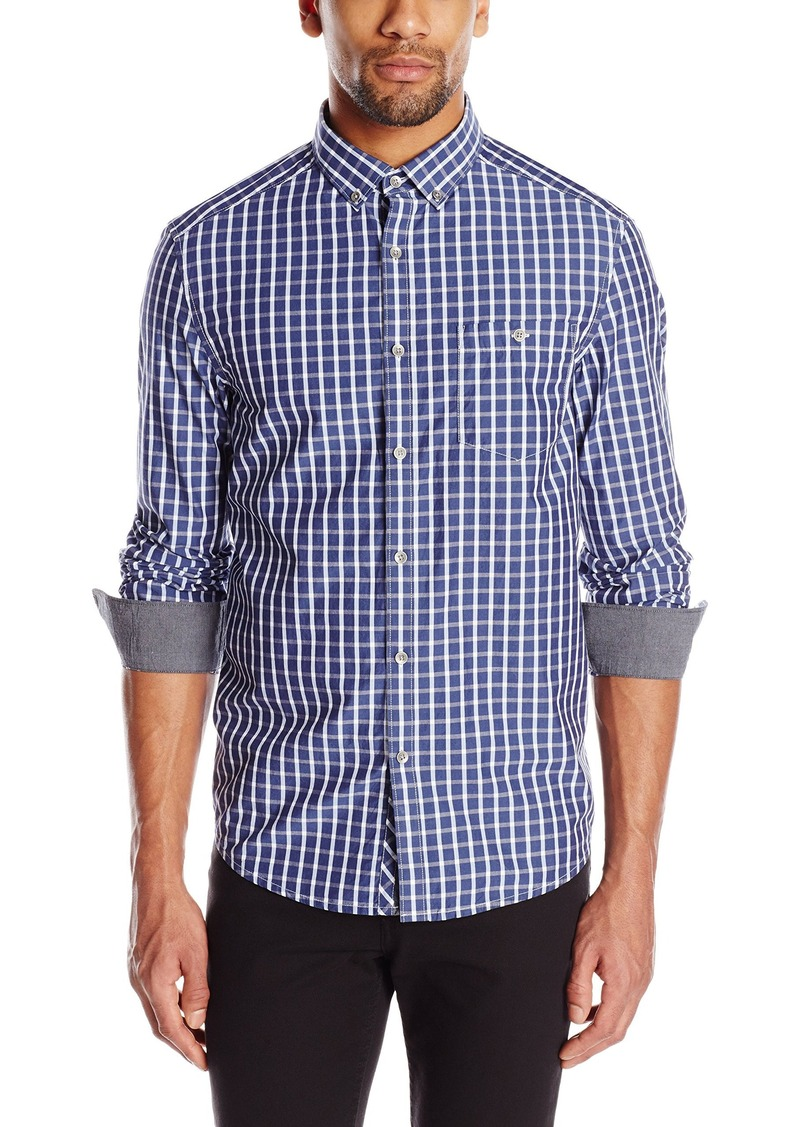 Kenneth Cole New York Men's Kenneth Cole Single Pocket Check Shirt