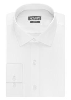Kenneth Cole Men's Slim Fit Solid Dot Spread Collar Dress Shirt