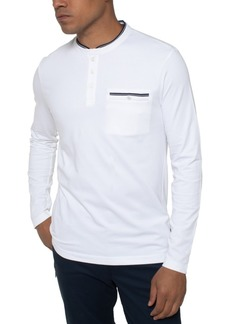 Kenneth Cole Men's Solid Long Sleeve Henley