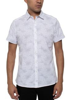 Kenneth Cole Men's Stretch Galaxy-Print Shirt