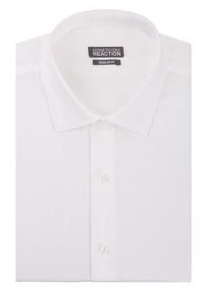 "Kenneth Cole Men's Textured Regular Fit Solid Spread Collar Dress Shirt  15.5"" Neck 32""-33"" Sleeve"