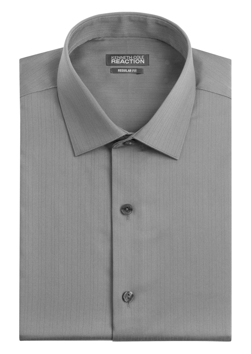 Kenneth cole kenneth cole men 39 s textured regular fit solid for Dress shirt collar fit