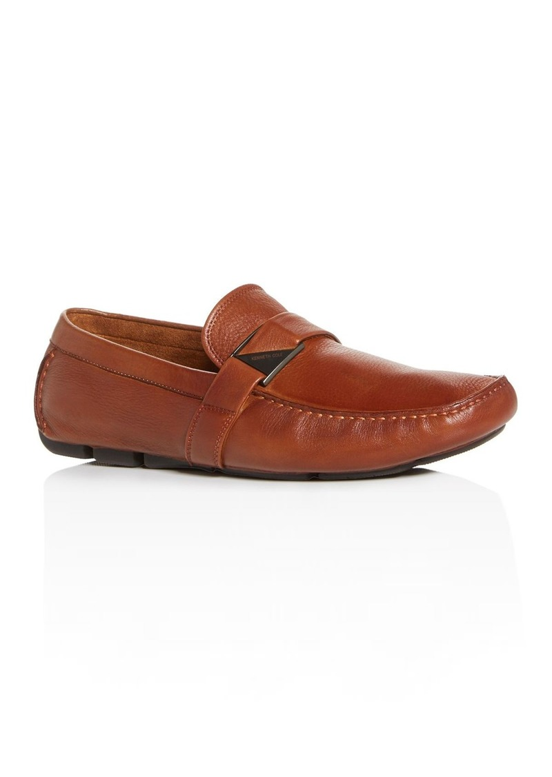 Kenneth Cole Men's Theme Leather Moc-Toe Drivers