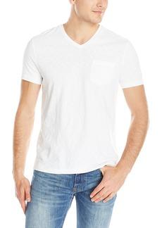 Kenneth Cole Men's Ultra Soft Acid Wash V-Neck Pocket T-Shirt