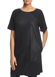 Kenneth Cole Metallic Paneled Tee Dress