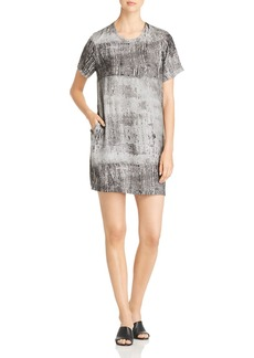 Kenneth Cole Metallic Print Shift Dress