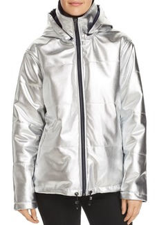 Kenneth Cole Metallic Puffer Jacket