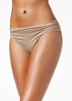 Kenneth Cole Metallic Shirred Bikini Bottoms Women's Swimsuit