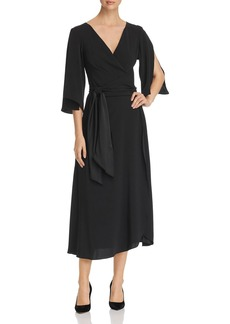 Kenneth Cole Midi Wrap Dress