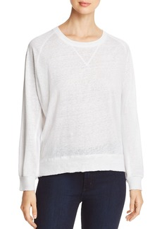 Kenneth Cole Mixed Media Sweatshirt Top