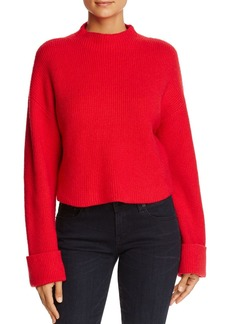 Kenneth Cole Mock-Neck Cropped Sweater