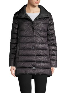 Kenneth Cole New York Animal-Print Puffer Jacket