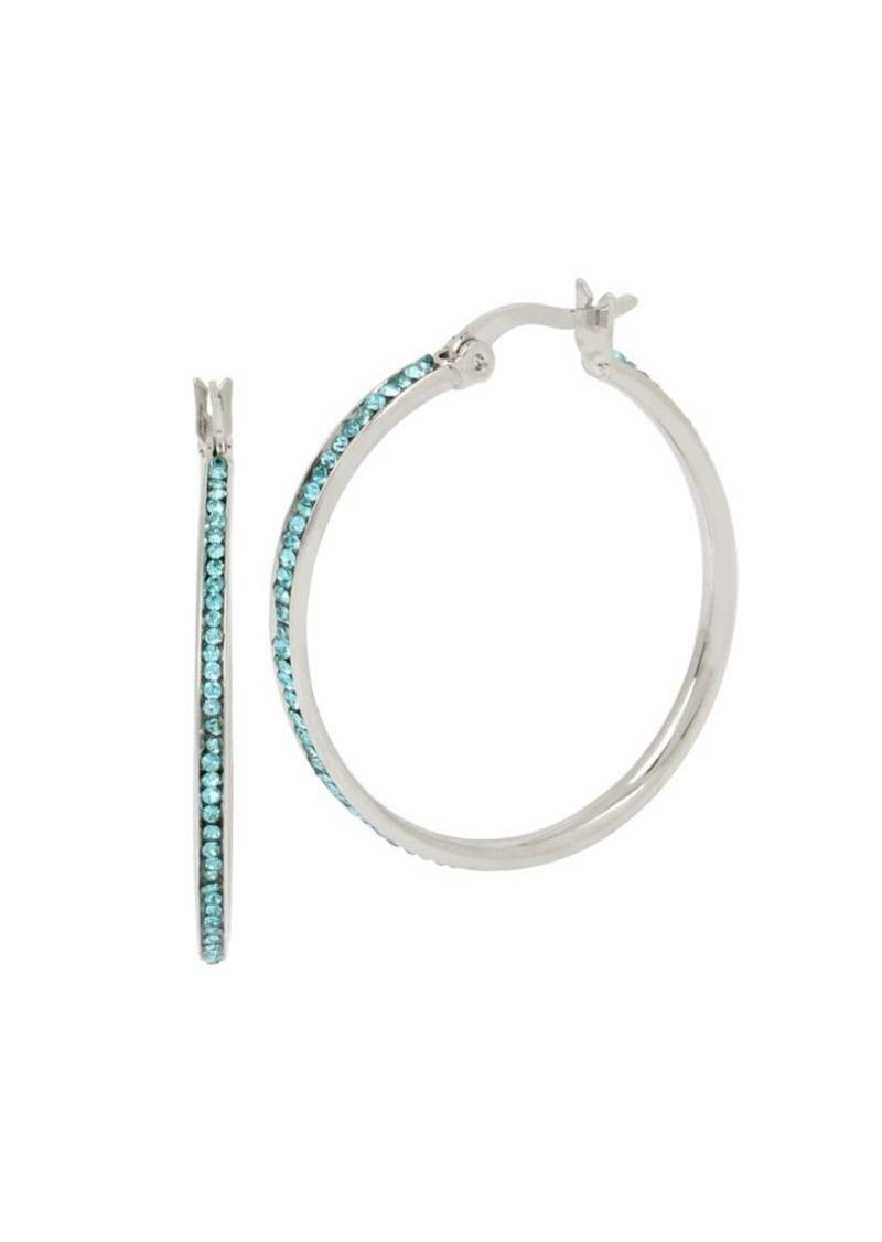 83b17f674 Kenneth Cole Kenneth Cole New York Aqua Chain Crystal Medium Hoop ...