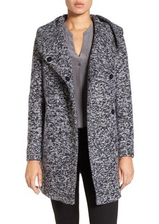 Kenneth Cole New York Asymetrical Tweed Duffle Coat