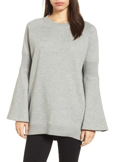 Kenneth Cole New York Bell Sleeve Ribbed Sweatshirt