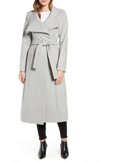 Kenneth Cole New York Belted Wool Blend Maxi Coat