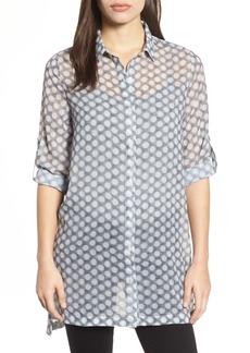 Kenneth Cole New York Button Tab Tunic Shirt