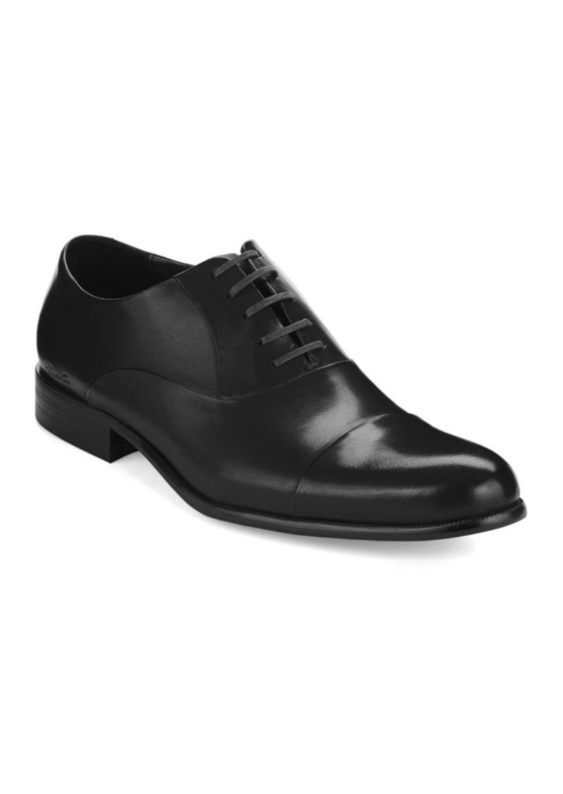 Kenneth Cole New York Chief Council Leather Cap-Toe Oxfords