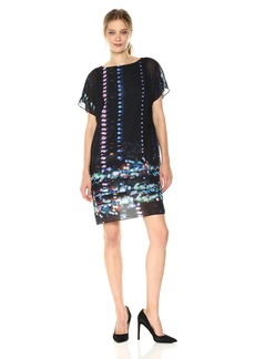 Kenneth Cole Women's Chiffon Overlay T-Dress  XL