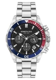 Kenneth Cole New York Chronograph Bracelet Watch, 43mm