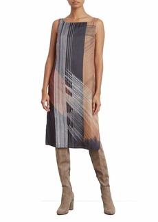 Kenneth Cole New York Column Overlay Dress
