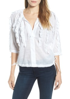 Kenneth Cole New York Crochet Trim Top