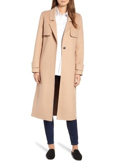 Kenneth Cole New York Double Face Wool Blend Long Coat