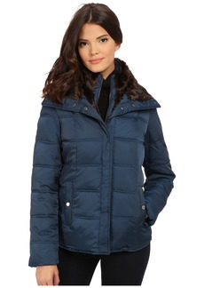 Kenneth Cole New York Down Jacket with Faux Fur Trim