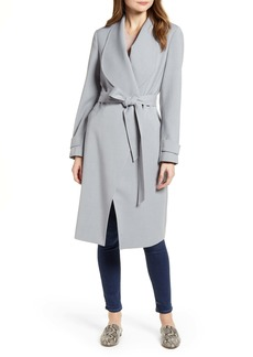 Kenneth Cole New York Drape Collar Wrap Coat