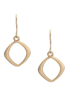 Kenneth Cole New York Gold Small Square Drop Earring