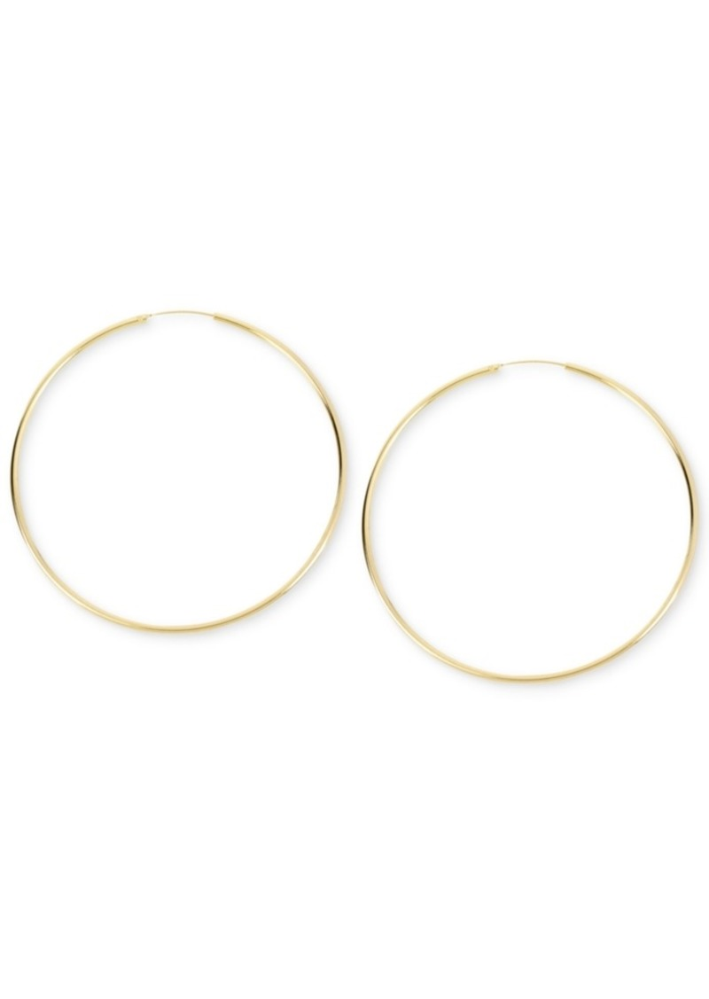 Kenneth Cole New York Large Gold Wire Hoop Earring