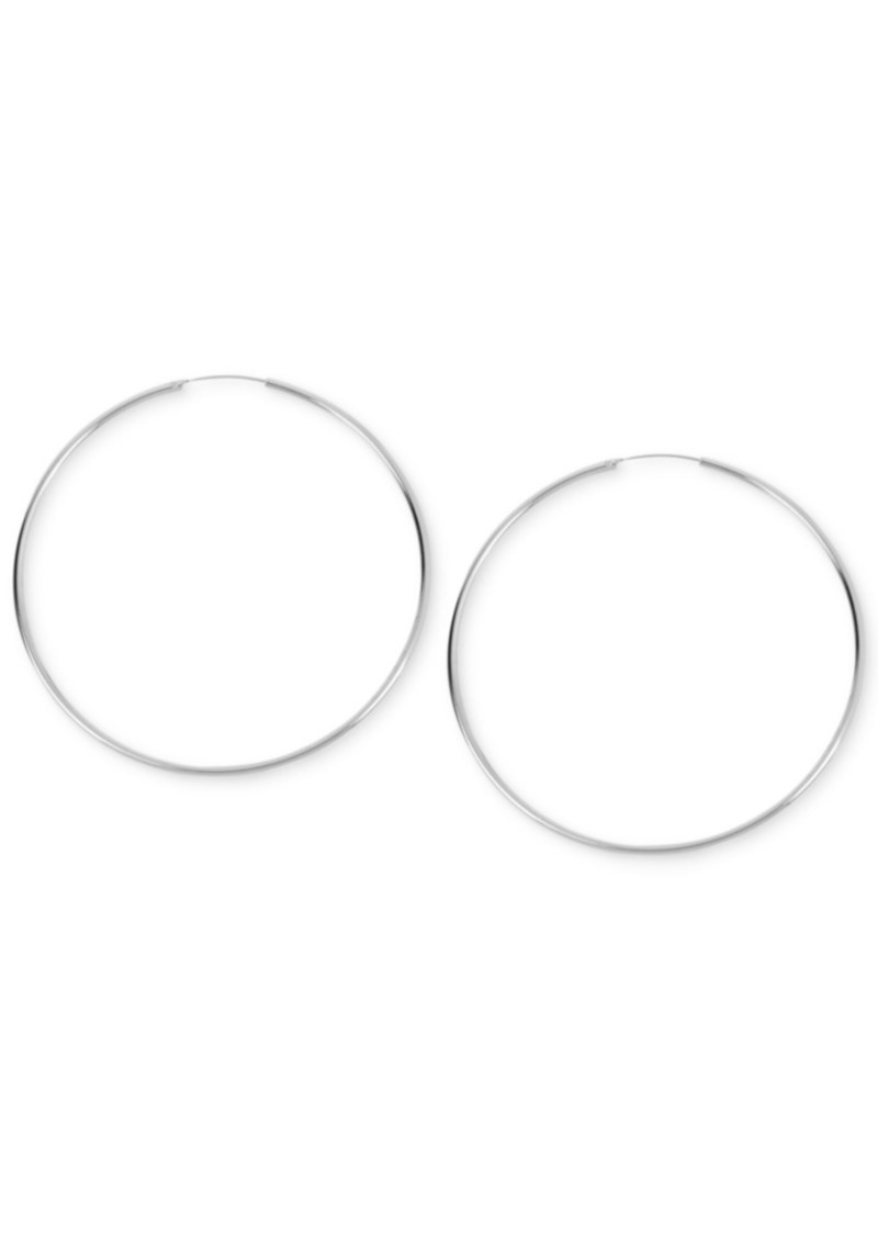 Kenneth Cole New York Large Silver Wire Hoop Earring