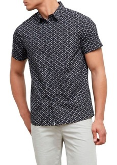 Kenneth Cole New York en's Short Sleeve Starry Print  edium