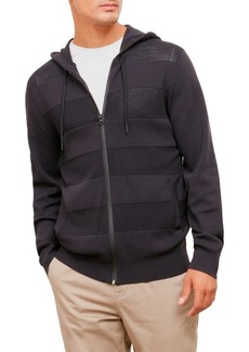 Kenneth Cole New York en's Techy esh Stripe Hoodie  edium