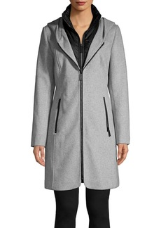 Kenneth Cole New York Essential Full-Zip Hooded Coat