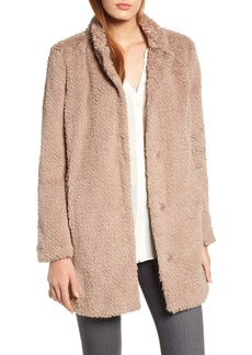 Kenneth Cole New York Faux Fur Jacket (Regular & Petite)