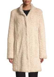 Kenneth Cole New York Faux-Fur Teddy Coat