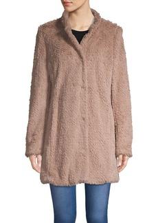 Kenneth Cole New York Faux Fur Teddy Jacket