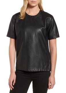 Kenneth Cole New York Faux Leather Tee