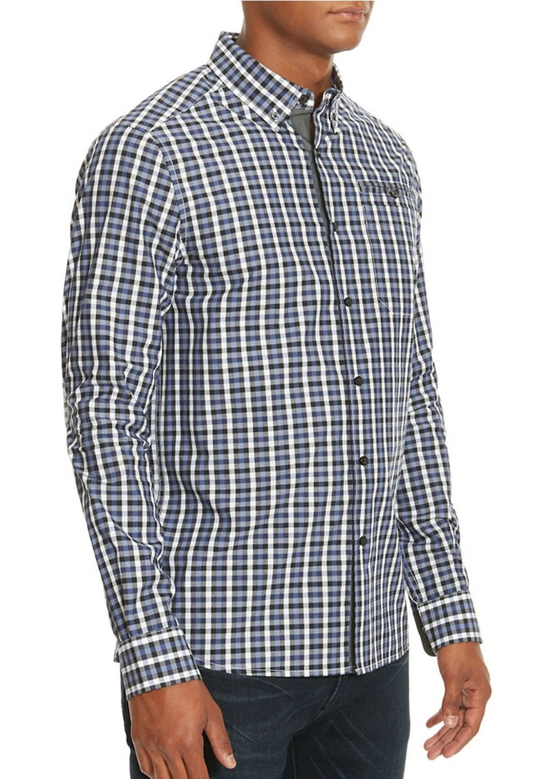 KENNETH COLE NEW YORK Gingham Woven Shirt